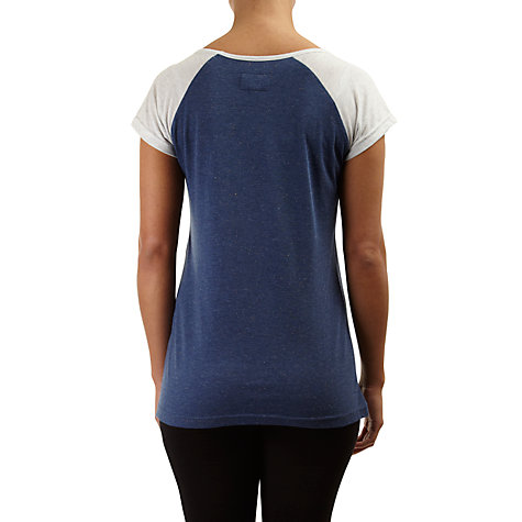 Buy Rampant Sporting Raglan Sleeve Tee, True Navy Marl Online at johnlewis.com