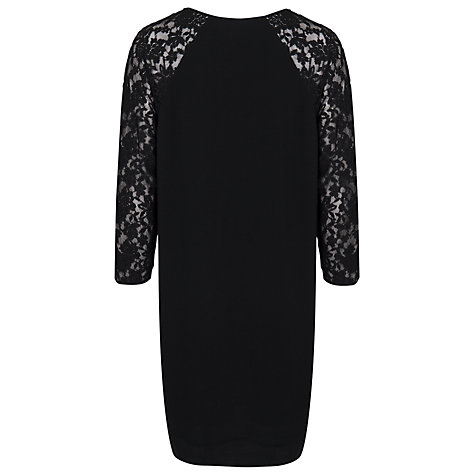 Buy French Connection Lace Rose Dress, Black Online at johnlewis.com