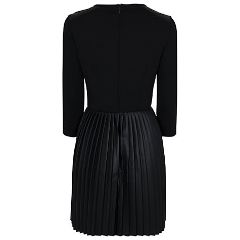 Buy French Connection Solar Pleating Dress, Black Online at johnlewis.com