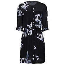 Buy French Connection Waterflower Drape Dress, White Online at johnlewis.com