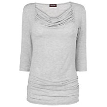 Buy Phase Eight Ramona Cowl Neck Top, Grey Online at johnlewis.com
