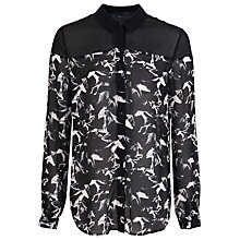 Buy French Connection Hatched Horses Shirt Online at johnlewis.com