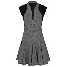 Buy French Connection Pop Cap Sleeve Dress, Black/White Spot Online at johnlewis.com