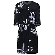 Buy French Connection Waterflower Drape Long Sleeve Dress, Black Online at johnlewis.com