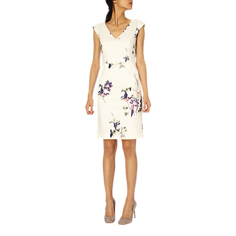 Buy French Connection Waterflower Dress, White Online at johnlewis.com
