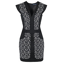Buy French Connection Mini Brushstroke Dress, White/Black Online at johnlewis.com