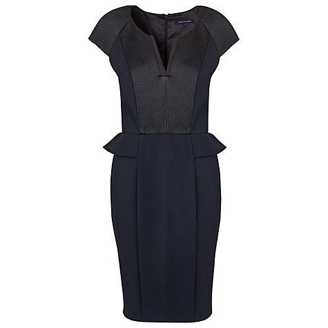 Buy French Connection Matrix Peplum Dress, Black Online at johnlewis.com