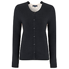 Buy French Connection Vhari Two-Tone Cardigan, Black/Brule Online at johnlewis.com