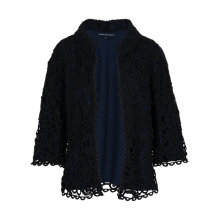 Buy French Connection Daisy Chain Jacket, Black Lace/Nocturnal Online at johnlewis.com