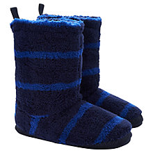 Buy Little Joule Slipper Socks, Dark Blue Online at johnlewis.com