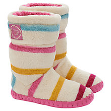 Buy Little Joule Slipper Socks, Cream/Multi Online at johnlewis.com
