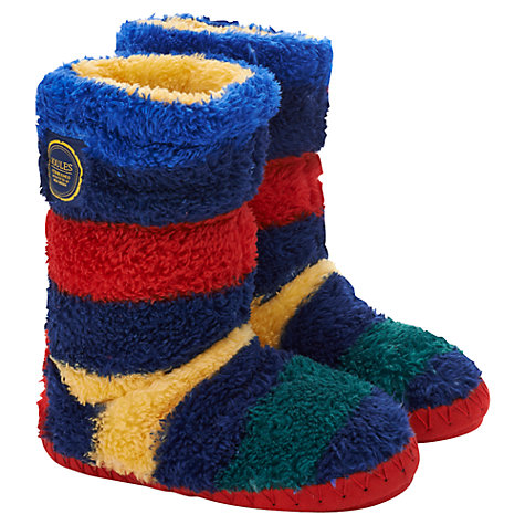 Buy Little Joule Striped Slipper Socks, Multi Online at johnlewis.com