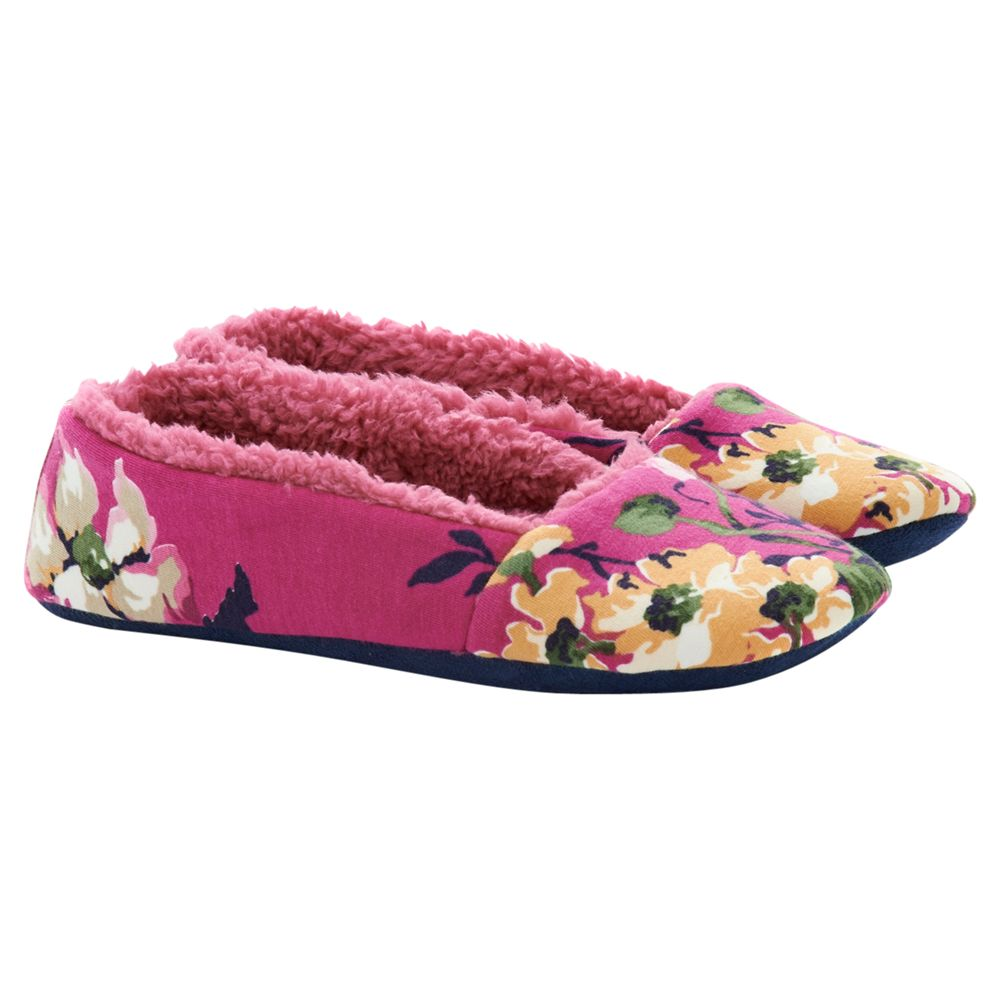 Little Joule Dreama Slippers, Ruby Floral