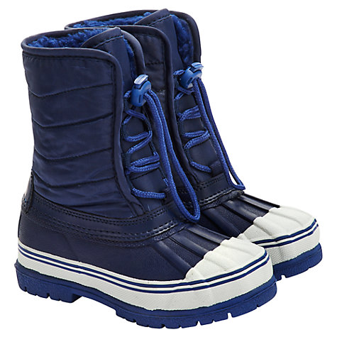 Buy Little Joule Snowboots, Navy Online at johnlewis.com