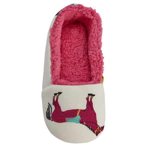 Buy Little Joule Dreama Slippers, Cream Online at johnlewis.com
