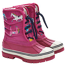 Buy Little Joule Horse Wellington Boots, Ruby Online at johnlewis.com