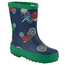 Buy Baby Joule Tractor Wellington Boots, Blue/Multi Online at johnlewis.com