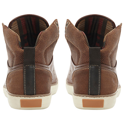 Buy Dune Scintillate Leather Hi-Top Trainers Online at johnlewis.com