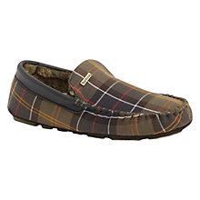 Buy Barbour Monty Tartan Slippers, Green/Multi Online at johnlewis.com