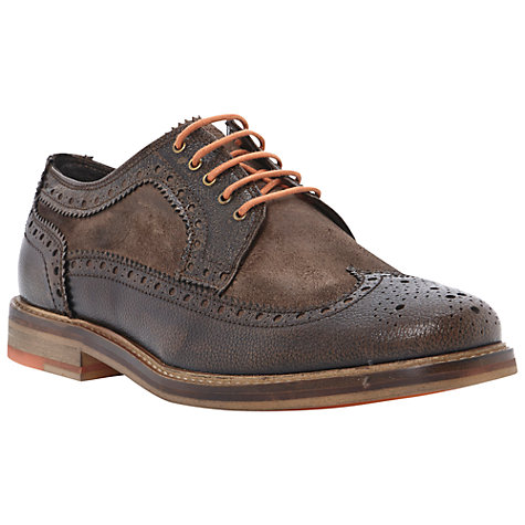 Buy Bertie Bethnal Green Leather and Suede Brogue Shoes, Brown Online at johnlewis.com
