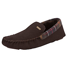 Buy Barbour Monty Suede Tartan Slippers, Brown/Multi Online at johnlewis.com