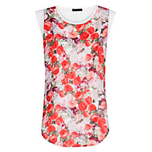 Buy Mango Floral Print T-Shirt, Natural White Online at johnlewis.com
