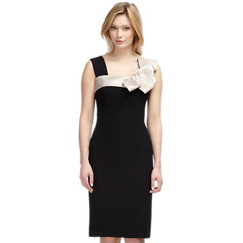 Buy Planet Frill Shoulder Dress, Black Online at johnlewis.com