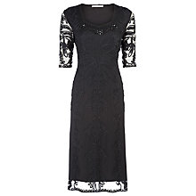Buy Jacques Vert Cornelli Evening Dress, Black Online at johnlewis.com