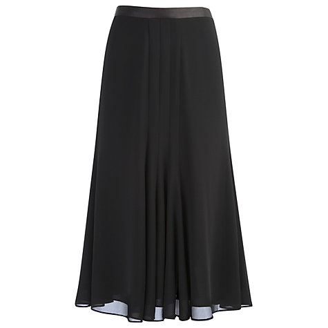 Buy Jacques Vert Black Chiffon Occasion Skirt, Black Online at johnlewis.com