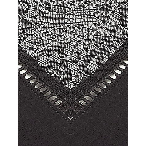 Buy Jacques Vert Chiffon & Lace Blouse, Black Online at johnlewis.com