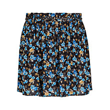 Buy Mango Floral Print Flare Skirt, Blue/Black Online at johnlewis.com