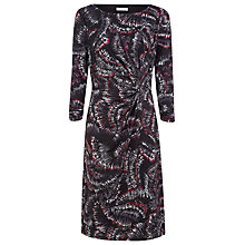 Buy Windsmoor Fan Print Stretch Jersey Dress, Black/Red Online at johnlewis.com