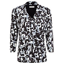 Buy Windsmoor Marble Print Jersey Top, Grey Online at johnlewis.com