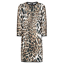 Buy Mango Leopard Print Dress, Medium Brown Online at johnlewis.com