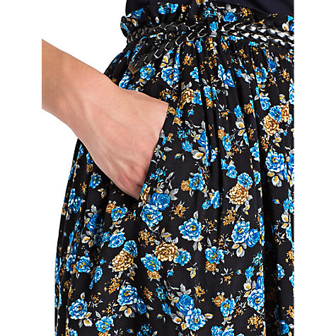 Buy Mango Floral Printed Skirt, Cobalt Online at johnlewis.com