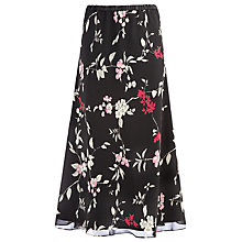 Buy Jacques Vert Oriental Print Skirt, Black Online at johnlewis.com