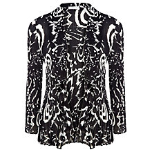 Buy Windsmoor Mono Print Crinkle Jacket, Black Online at johnlewis.com