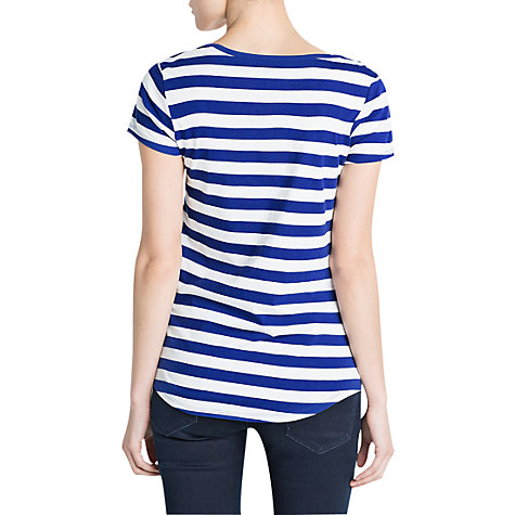 Buy Mango Stripe Cotton T-Shirt Online at johnlewis.com