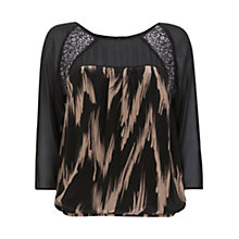 Buy Mint Velvet Jana Silk Bubble Top, Multi Online at johnlewis.com