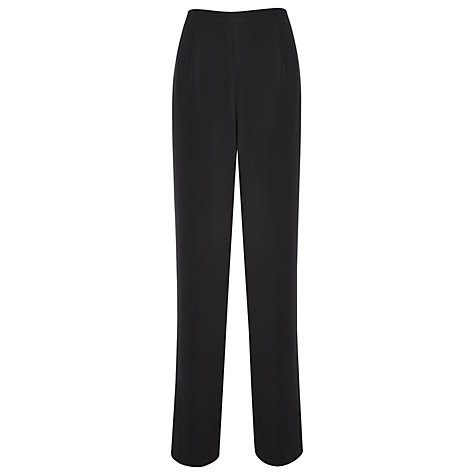 Buy Jaques Vert Chiffon Trousers, Black Online at johnlewis.com