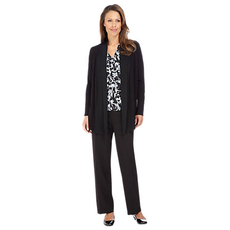 Buy Windsmoor Tailored Trousers, Black Online at johnlewis.com