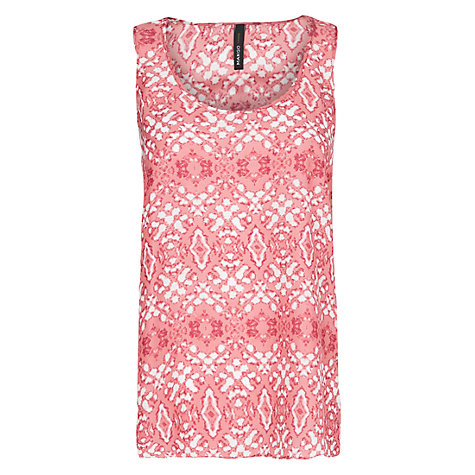 Buy Mango Digital Print Top, Medium Pink Online at johnlewis.com