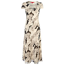 Buy Jacques Vert Graphic Floral Tea Dress, Cream Online at johnlewis.com