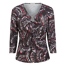 Buy Windsmoor Fan Print Top, Black Online at johnlewis.com