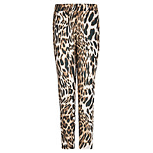 Buy Mango Leopard Printed Trousers, Medium Brown Online at johnlewis.com