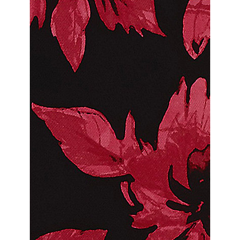Buy Jacques Vert Vivid Floral Print Dress, Black/Red Online at johnlewis.com