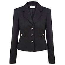 Buy Precis Petite Buckle Trim Jacket, Black Online at johnlewis.com