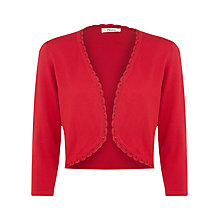 Buy Precis Petite Crochet and Bead Detail Shrug, Scarlet Online at johnlewis.com