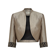 Buy Precis Petite Lace Bolero, Brown Online at johnlewis.com