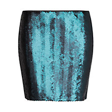 Buy Mango Sequinned Mini Skirt, Navy Online at johnlewis.com